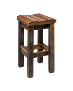 Wooden Bar Stool - Curved Top