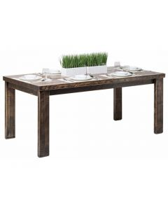 Reclaimed Wooden Dining Table 1.8m - Black X Marks