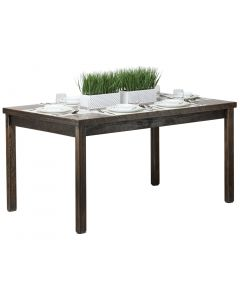 Reclaimed Wooden Dining Table 1.5m - Staggered Grain