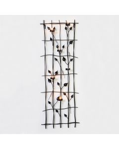 Leaf Wall Art with 6 Candle Holders