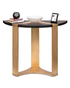 Half Moon French Brass and Black Hallway Table