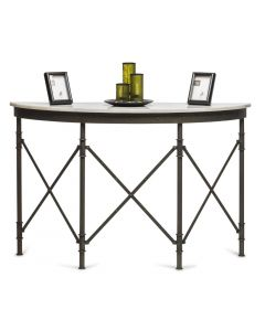 Hallway Table with White Marble Top