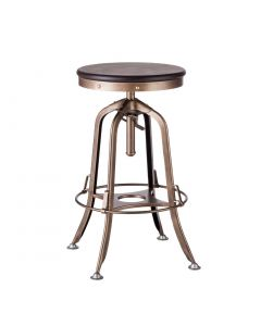 Industrial Bar Stool in French Brass Colour