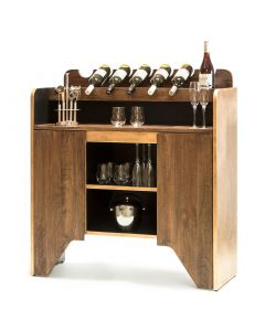 Milano Contemporary Wooden Wine Rack Bar Cabinet with Bottle Holders