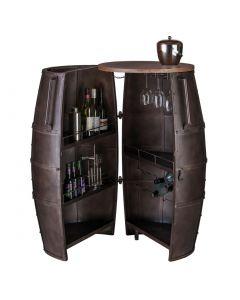 Iron Round Antique Bar Cart