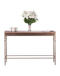 Narrow Hallway Table with Wood Top