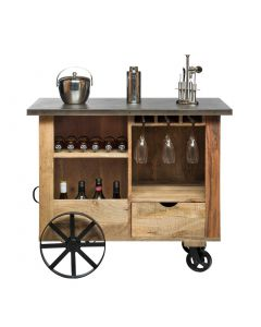 Wooden Vintage Bar Cart Trolley