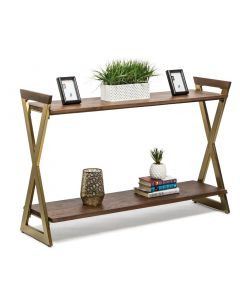 Wooden Hall Table with Shelves
