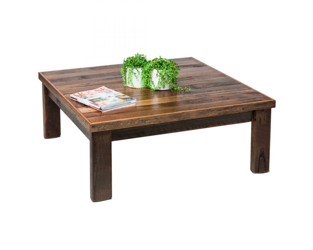reclaimed wooden coffee table blonde matt