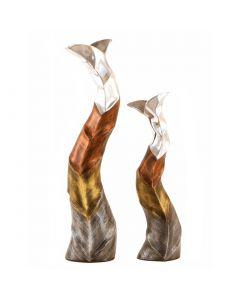 Aluminium Curvy Vase - Set of 2
