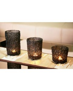 Wired Mesh Candle Holder - Set of 3