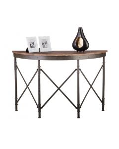 Half Moon Wooden Hallway Console Table