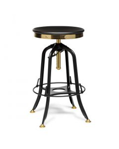 Black Gold Industrial Bar Stool