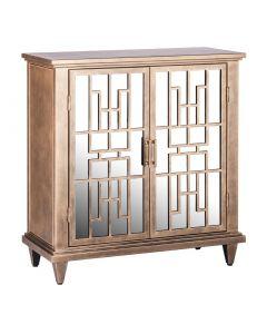 Buffet Iron Cabinet Storage - Brass Finish
