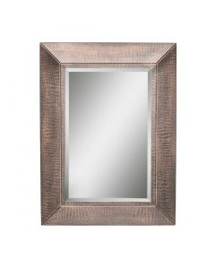 Rectangular Copper Wall Mirror - Croc Patterned