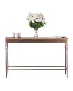 Narrow Hallway Table with Wood Top