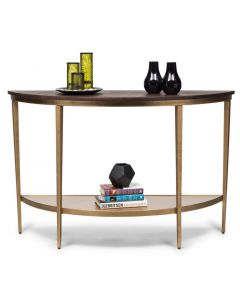 Half Round Hallway Console Table with Storage