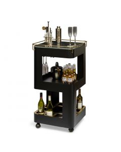 Modern Black Gold Drinks Trolley
