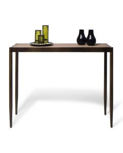 Slim Hallway Console Table with Wood Top
