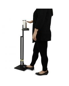 Lirash Touchless Hand Sanitiser Floor Stand with Foot Pedal Gold Black