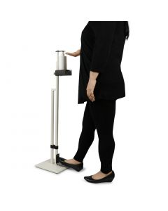 Lirash Touchless Hand Sanitiser Floor Stand with Foot Pedal White Black