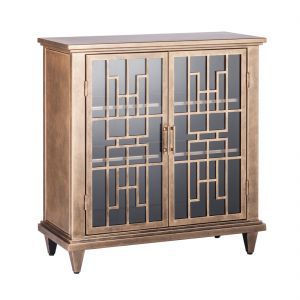 Buffet Iron Cabinet Storage - Brass Finish