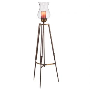 Tripod Corner Floor Lamp with Candle Holder