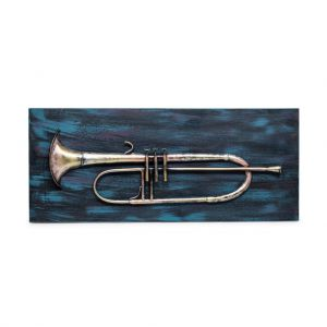 Trumpet 3D Wall Art Display Handmade Home Decor