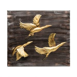 Handmade Birds Wall Art 3D Wooden Iron Display