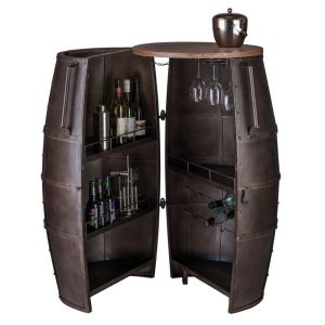 Wine Storage Iron Barrel Bar