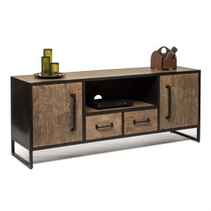 Entertainment Iron Wooden TV Unit 1.5m Media Cabinet